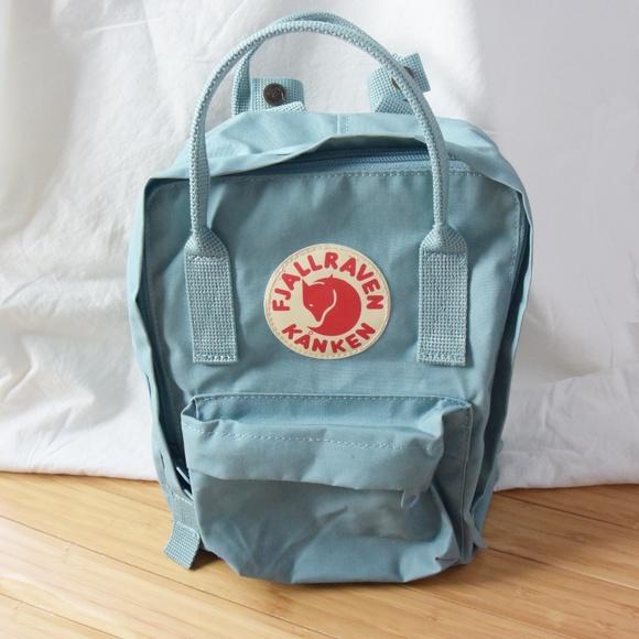d6aa61f64b Fjallraven Handbags - Fjallraven Kanken Sky Blue Mini Backpack